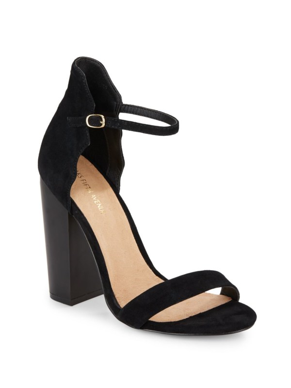 Saks Avenue Suede Sandals In Black Lyst