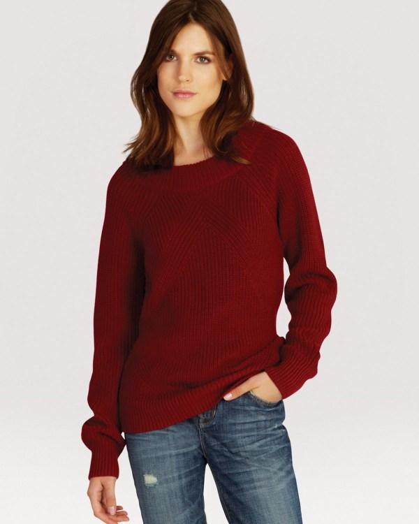 Lyst - Karen Millen Sweater '50s Boat Neck In Red