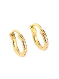 Lyst - Ileana Makri Diamond & Yellow-Gold Mini Hoop ...
