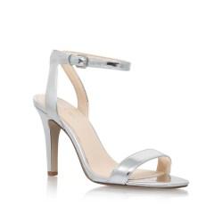 acece4394 Lyst Nine West Aniston High Heel Sandals In Metallic