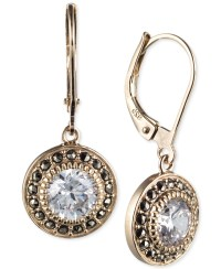Judith jack Yellow Gold-plated Marcasite And Cubic ...