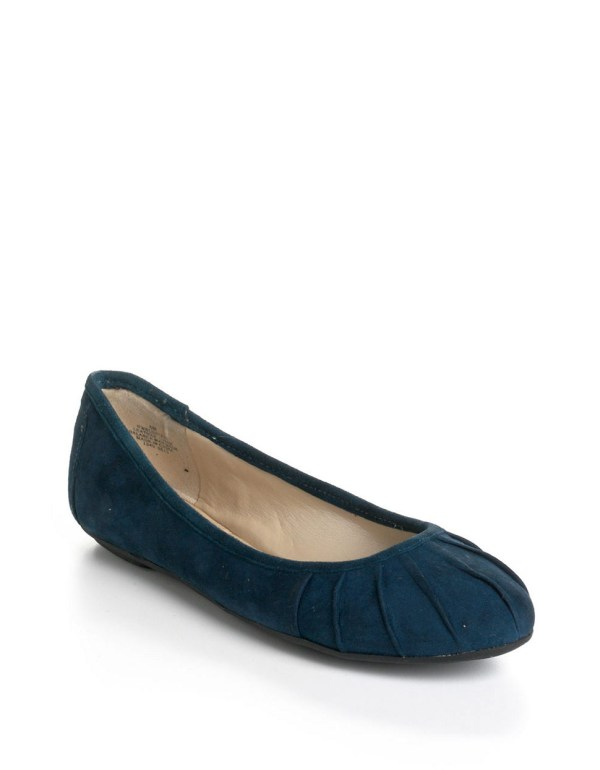 Nine West Blustery Suede Ballet Flats In Blue Lyst