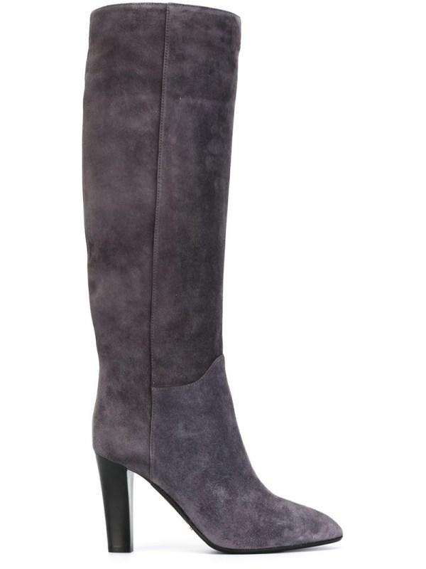 Sergio Rossi High Heel Knee Boots In Gray Lyst