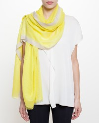 Lyst - Bajra Checker Weave Cashmere-Silk Scarf in Yellow