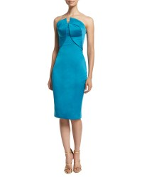 Lyst - Zac Posen Strapless Fitted Cocktail Dress in Blue