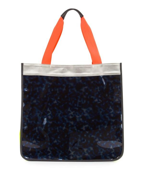 0bcb0d04b Monreal London Hero Colorblock Vinyl Tote Bag In Blue Lyst