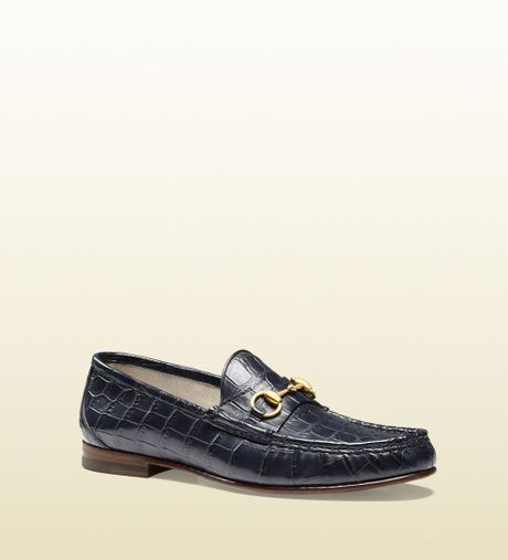 2dde582a689 Lyst Gucci 1953 Horsebit Loafer In Crocodile In Brown - Modern Home ...