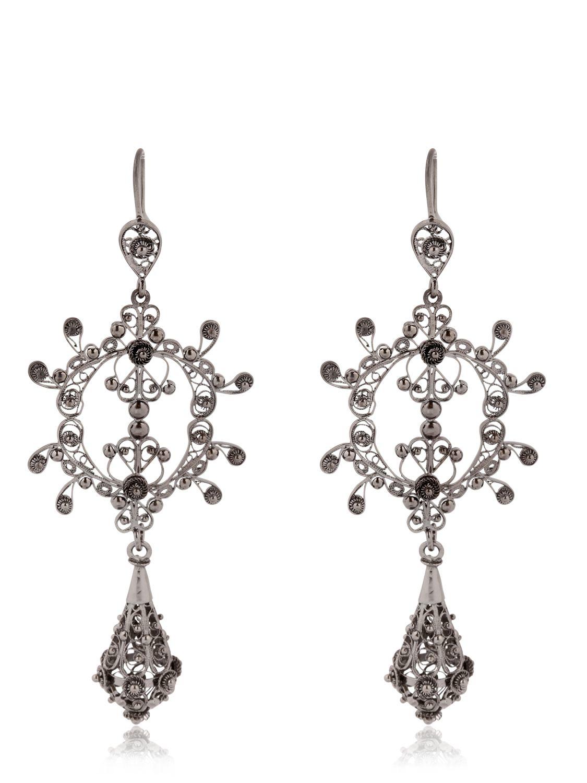 Arabel Lebrusan Silky Filigree Chandelier Earrings In