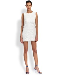 Lyst - Bcbgmaxazria Amelie Sleeveless Lace Shift Dress in ...