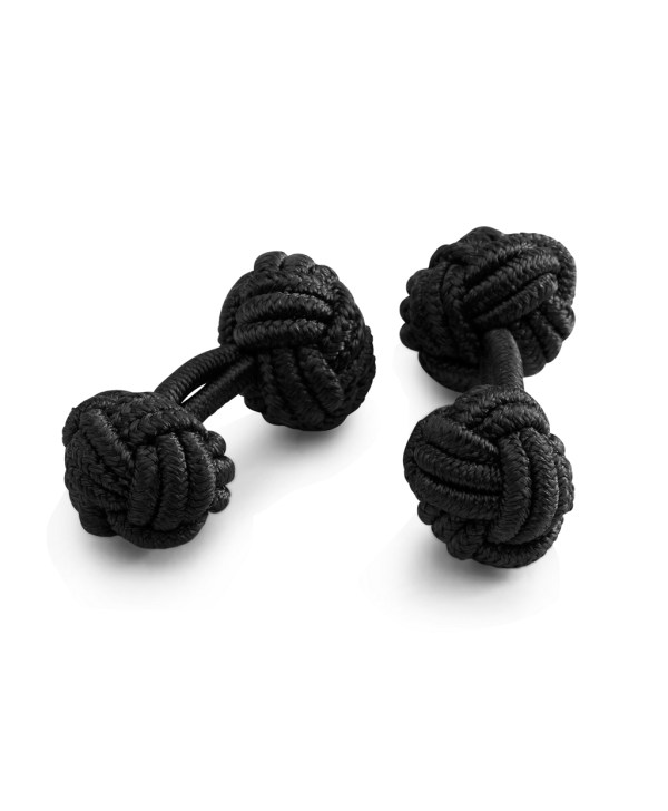 Brooks Brothers Knot Cuff Links In Black Men Lyst
