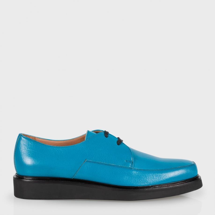 Paul smith Mens Turquoise Buffalino Leather nico Shoes