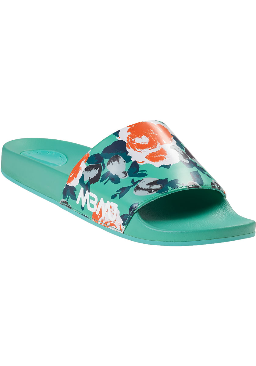 Marc By Marc Jacobs Tropical Print Rubber Slides In Blue