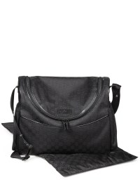 Gucci Baby Original Gg Canvas Diaper Bag in Black