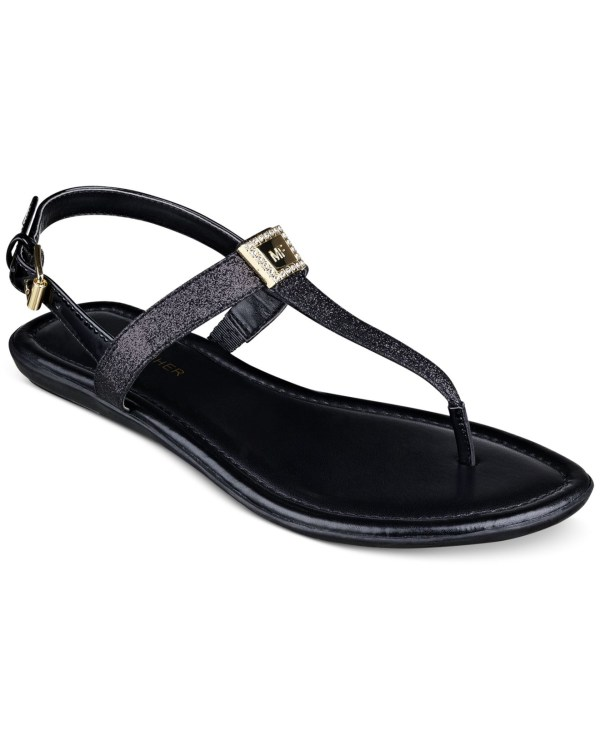 Marc Fisher Ademi Thong Sandals In Black Lyst