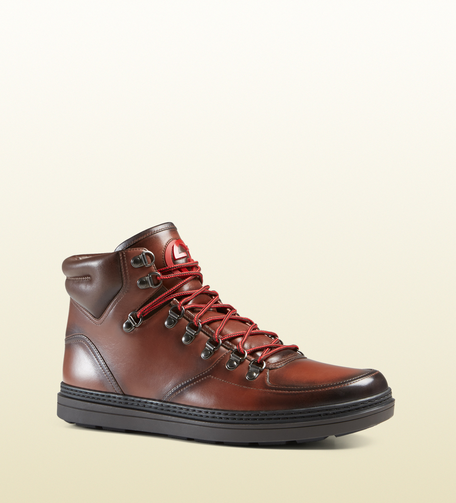 d5bec988b Cozy Lyst Gucci Leather Trekking Boot In Brown For Men - Ivoiregion