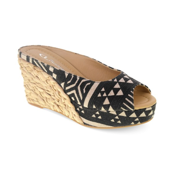 Chinese Laundry Daysie Wedge Sandals In Black Lyst