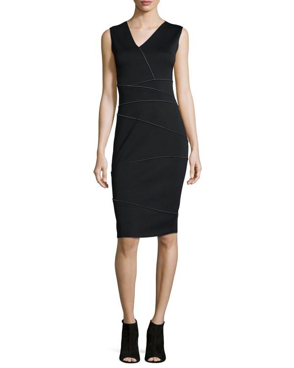 Lyst - Elie Tahari Alexia Crepe Dress In Black