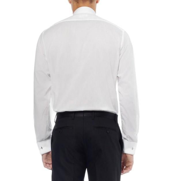 76731cb0e6eae4 Lyst - Brioni Pleated Bib-front Cotton Tuxedo Shirt In