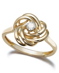 Lyst - Wrapped In Love 14k Gold Diamond Love Knot Ring (1 ...
