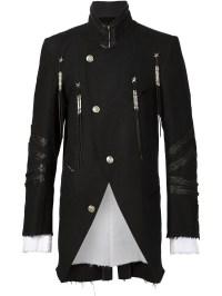 Military Black Coat - Coat Racks