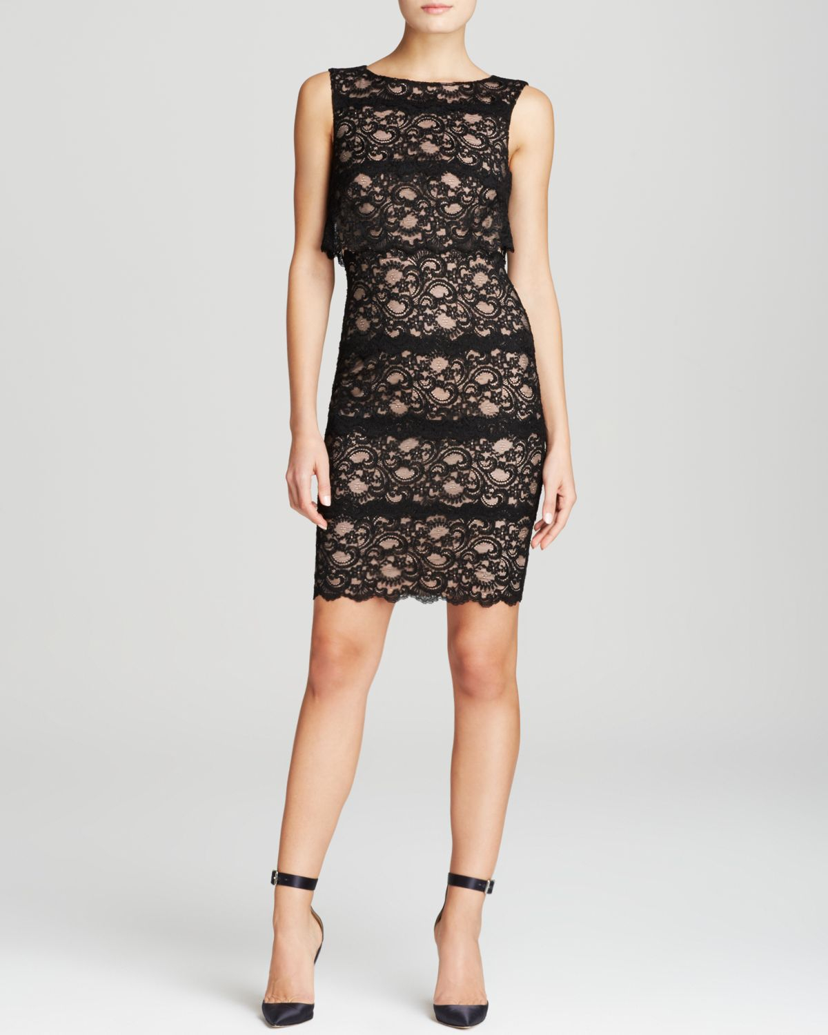 Lyst  Nicole Miller Dress  Sleeveless Stretch Lace in Black