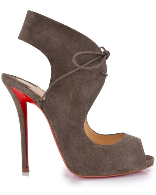 Lyst - Christian Louboutin Taupe Suede Allegra Slingback