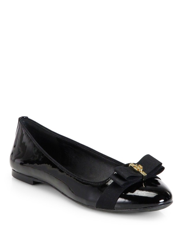 Tory Burch Trudy Patent Leather Ballet Flats in Black Lyst