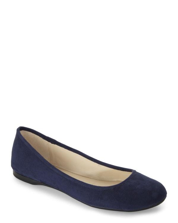 Nine West Navy Fedra Ballet Flats In Blue - Lyst