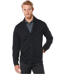 Perry ellis Jacquard Shawl-collar Sweater Jacket in Blue ...