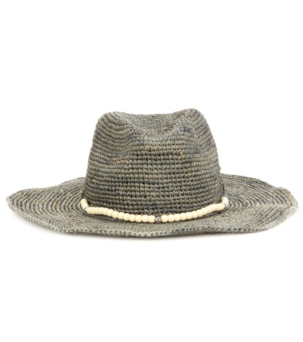 Lyst - Hat Attack Embellished Raffia In Green