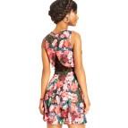 Black Floral Dresses for Juniors