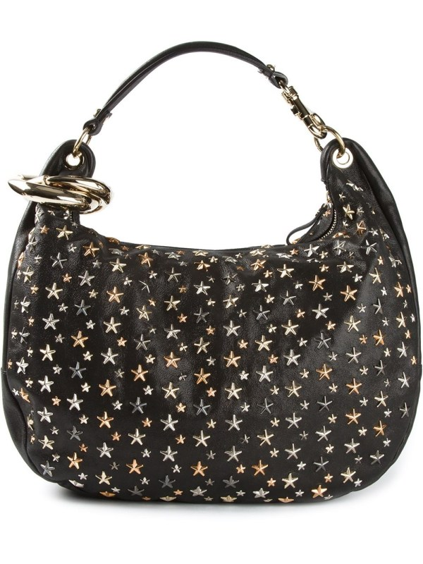 Jimmy Choo Solar Hobo Bag In Metallic - Lyst
