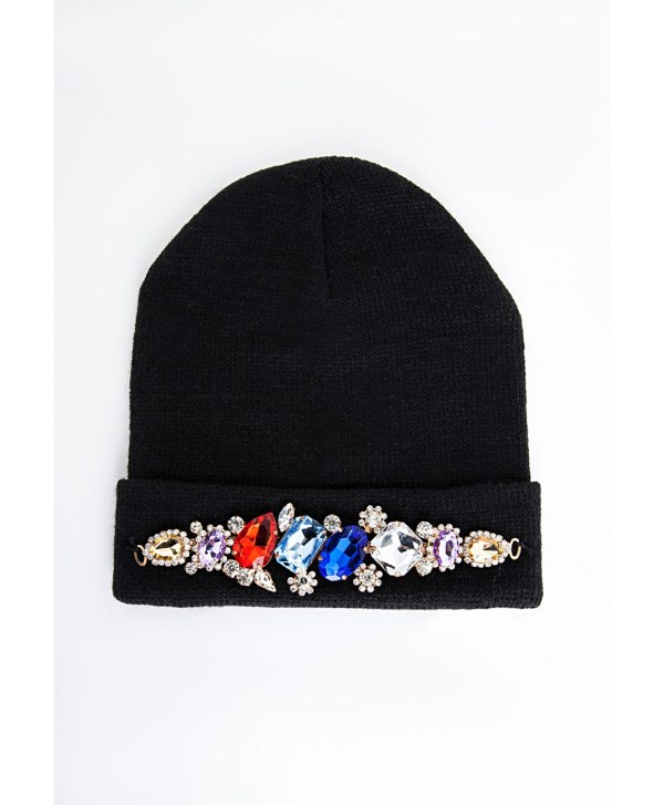 Lyst - Missguided Alena Crystal Embellished Beanie Hat