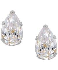 Macy's Pear-cut Cubic Zirconia Stud Earrings In 14k Gold ...