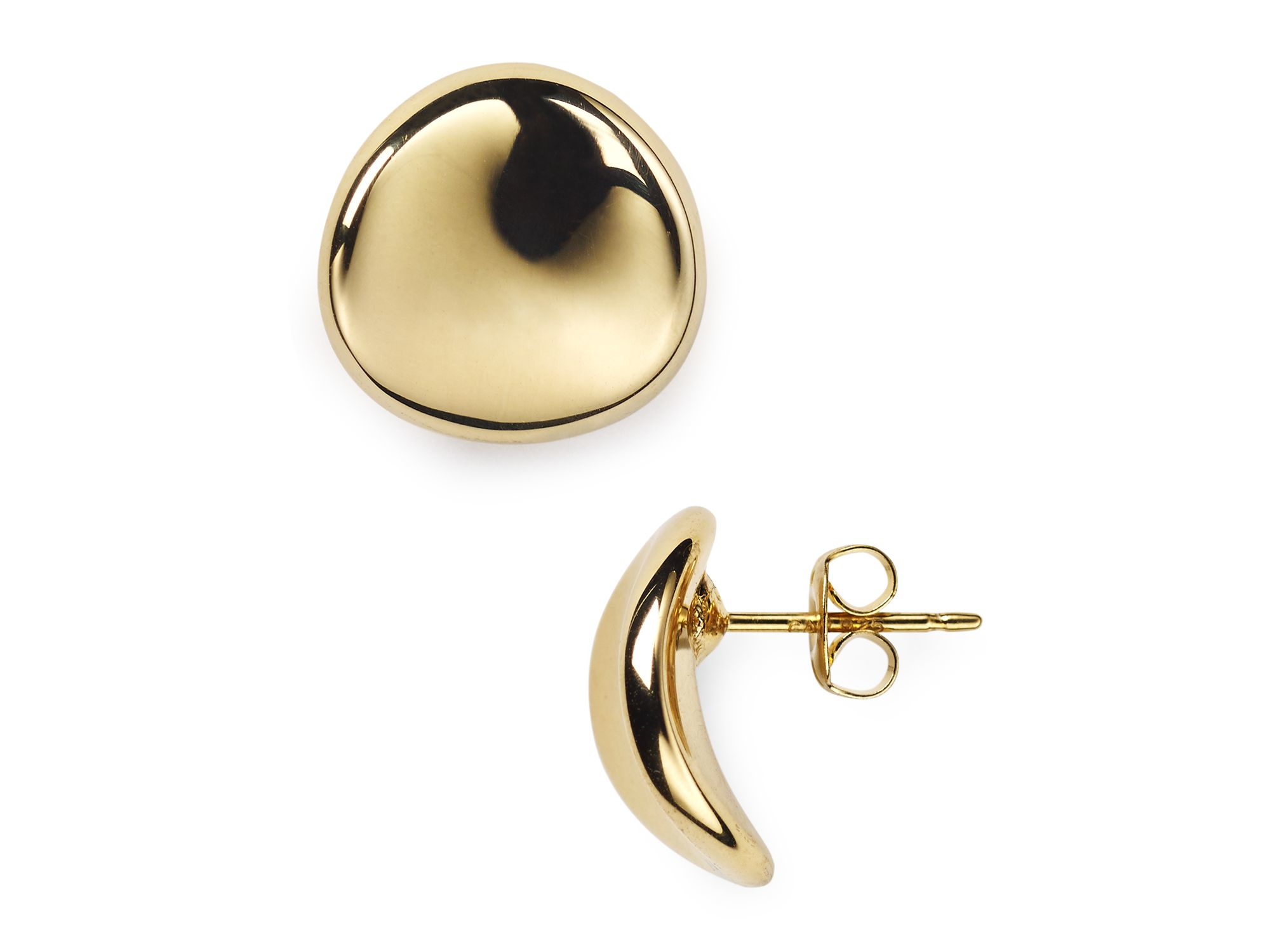 Nancy b Vermeil Disc Stud Earrings in Gold