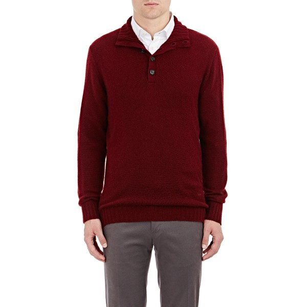 Lyst - Isaia Cashmere Mock Turtleneck Sweater In Red Men
