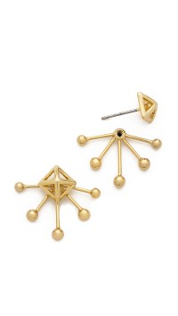 Rebecca minkoff Pyramid Fan Stud Earrings in Gold | Lyst