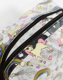 Asos Unicorn And Rainbow Clear Make Bag - Lyst
