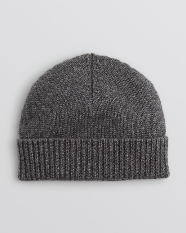 Lyst - Bloomingdale' Chunky Rib Cuffed Hat In Gray Men