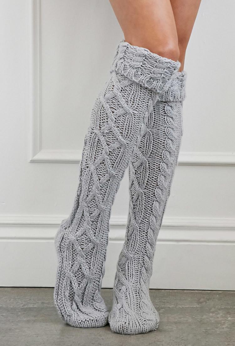 Gray Slipper Socks