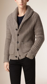 Shawl Collar Men'S Cardigan - Bronze Cardigan