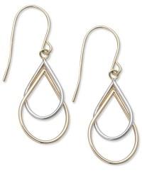 Macy's 10k Two-tone Earrings, Double Teardrop Earrings in ...