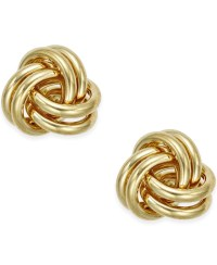 Macy's Love Knot Stud Earrings In 10k Gold in Gold (Yellow ...
