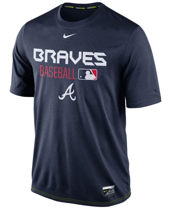 Nike Men' Atlanta Braves Legend Dri-fit T-shirt In Blue Men Lyst