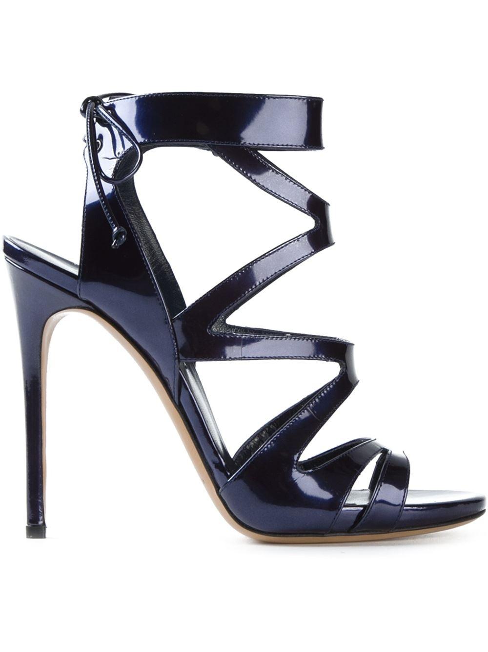 Casadei Strappy Stiletto Sandals in Blue  Lyst