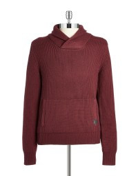 Lyst - Victorinox Wool Shawl-collared Sweater in Red