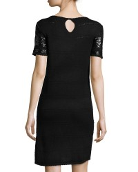 Lyst - Elie Tahari Short-sleeve Sequined Knit Cocktail ...