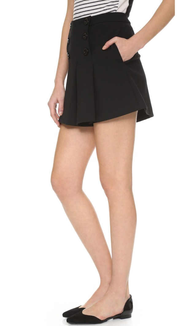 Lyst - Red Valentino Sailor Shorts In Black