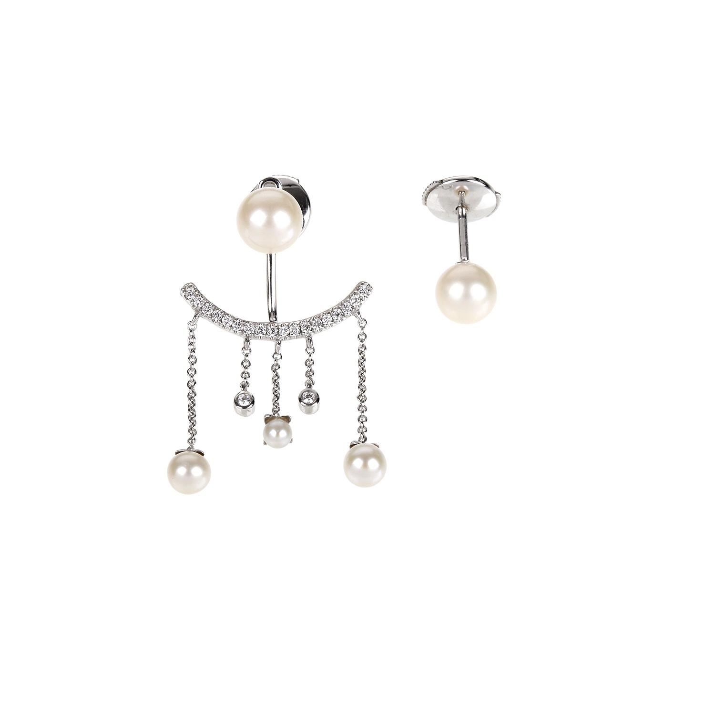 Elise Dray Earrings in Silver