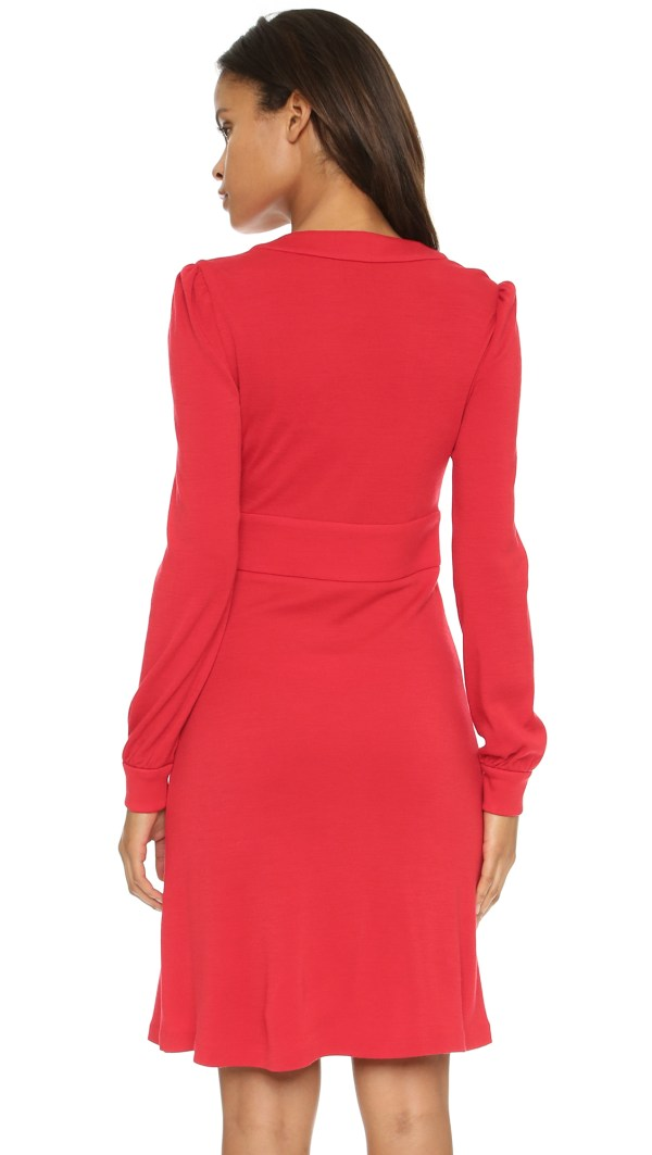 Diane Von Furstenberg Leyah Dress - Poppy In Red Lyst